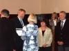 Hr. Mebert, Frau Kiesow und Hr. Hübner erhalten das Gütesiegel.