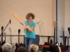 Sophie aus der 6a begeistert mit ihrem Auftritt das Publikum.