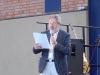 Unser Schulleiter Herr Mebert bei der Verleihung.