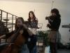 Begleitung von drei Schülerinnen