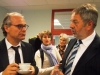 Staatssekretär Dr. Hofmann im Gespräch mit unserem Schulleiter Hr. Mebert