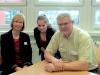 Kira im Interview mit dem Fördervereinsvorsitzenden Hr. Schädel.