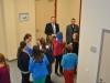 Die Schulleitung begrüßt die ersten Gäste.